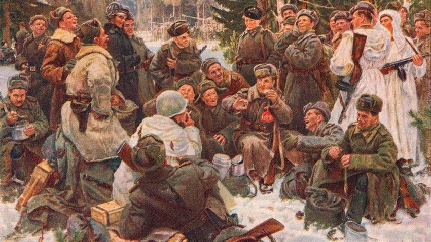 Непринцев Отдых после боя картина