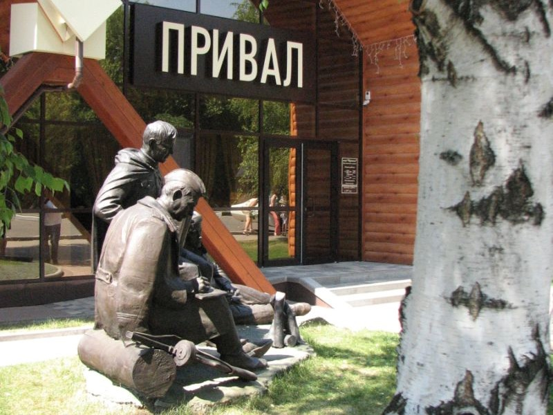 памятник Василию Тёркину под Прохоровкой